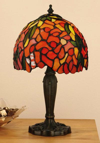 Tiffanylampa Bordslampa Laburium Ø18cm