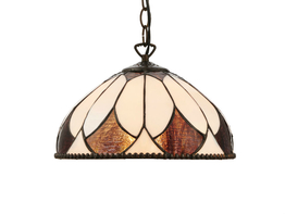 Tiffanylampa Taklampa Amber Ø 41cm