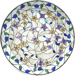 Stained glass window November