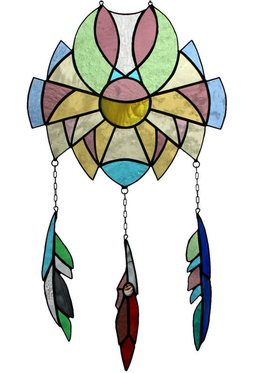 Stained glass window  Dream Catcher H 51cm