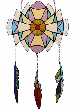 Stained glass window  Dream Catcher H 48cm