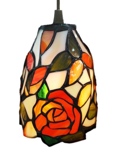 Tiffanylampa Fönsterlampa Rose