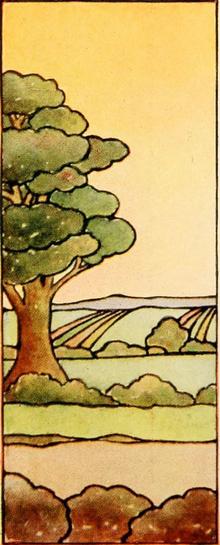 Blyinfattat Fönster Landscape