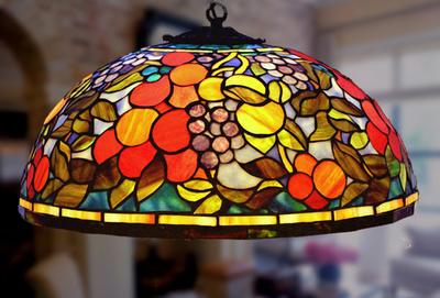 Tiffanylampa Taklampa Algarve Ø 42cm