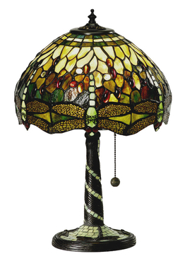 Bordlampe Dragonfly Green Ø 31cm