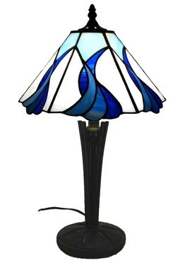 Tiffanylampa Bordslampa Blue lagoon Ø 28cm